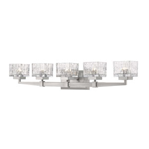 Rubicon Brushed Nickel Five-Light Bath Vanity