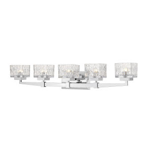 Rubicon Chrome Five-Light LED Bath Vanity