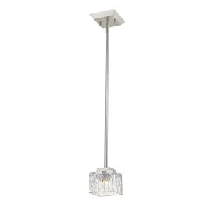 Rubicon Brushed Nickel One-Light LED Mini Pendant