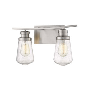 Gaspar Brushed Nickel Two-Light Bath Vanity