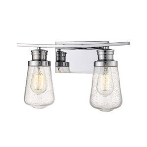 Gaspar Chrome Two-Light Bath Vanity