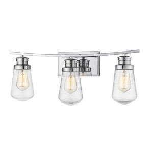Gaspar Chrome Three-Light Bath Vanity
