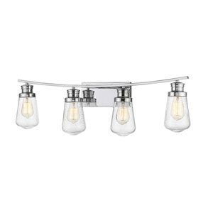 Gaspar Chrome Four-Light Bath Vanity
