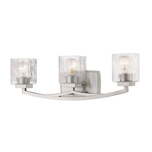 Zaid Brushed Nickel Three-Light Bath Vanity