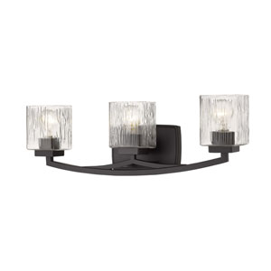 Zaid Bronze Three-Light Bath Vanity
