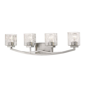 Zaid Brushed Nickel Four-Light Bath Vanity