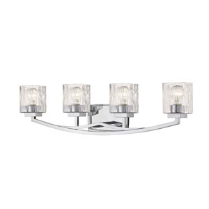 Zaid Chrome Four-Light Bath Vanity