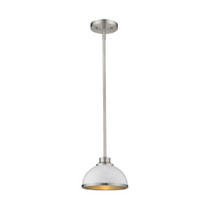 Citadel Brushed Nickel 8-Inch One-Light Mini Pendant