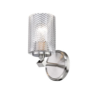Dover Street Brushed Nickel One-Light Wall Sconce