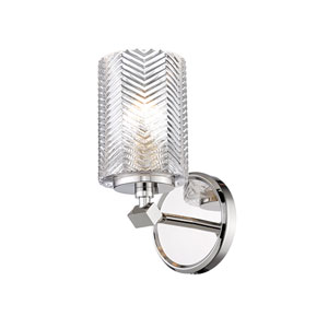 Dover Street Polished Nickel One-Light Wall Sconce