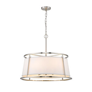 Lenyx Pendant Brushed Nickel Six-Light Pendant