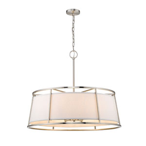 Lenyx Pendant Brushed Nickel Eight-Light Pendant