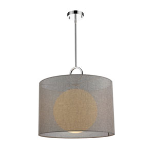 Arosia Chrome and Gray 20-Inch One-Light Pendant