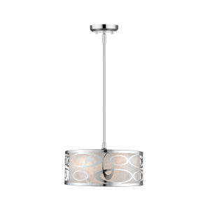 Chrome Three-Light Pendant