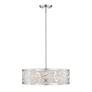 Brushed Nickel Four-Light Pendant