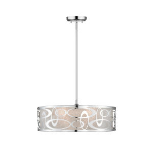 Chrome Four-Light Pendant