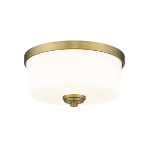 Arlington Heritage Brass Two-Light Flush Mount