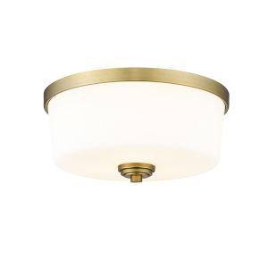 Arlington Heritage Brass Three-Light Flush Mount