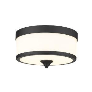 Cosmopolitan Matte Black Three-Light Flush Mount