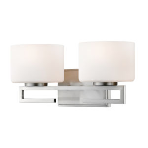Privet Brushed Nickel Two-Light LED Bath Vanity