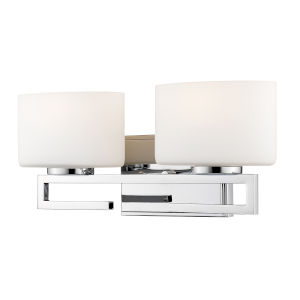 Privet Chrome Two-Light LED Bath Vanity