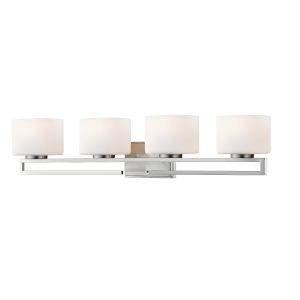 Privet Brushed Nickel Four-Light LED Bath Vanity
