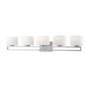 Privet Brushed Nickel Five-Light LED Bath Vanity