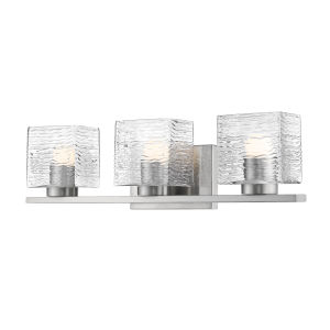 Barrett Brushed Nickel Three-Light LED Bath Vanity
