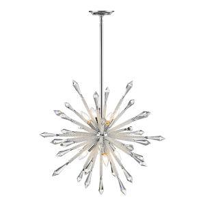 Soleia Chrome Eight-Light Chandelier