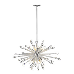 Soleia Chrome Eight-Light Starbust Chandelier