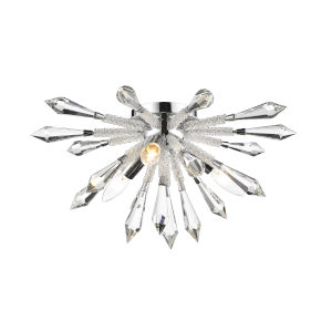 Soleia Chrome Three-Light Flush Mount