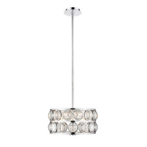 Eternity Chrome Three-Light Chandelier With Transparent Crystal