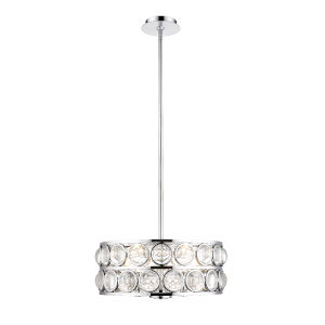 Eternity Chrome Five-Light Chandelier With Transparent Crystal