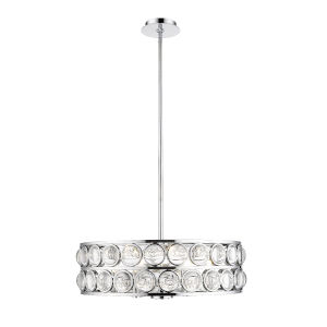 Eternity Chrome Six-Light Chandelier With Transparent Crystal
