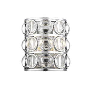 Eternity Chrome Two-Light Wall Sconce With Transparent Crystal