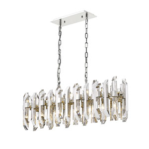 Bova Polished Nickel 11-Light Island Chandelier