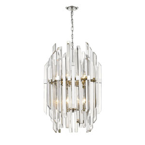 Bova Polished Nickel 12-Light Pendant