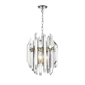 Bova Polished Nickel Four-Light Pendant