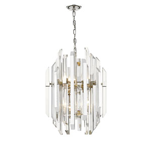 Bova Polished Nickel Nine-Light Pendant