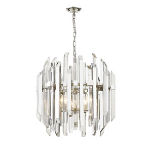 Bova Polished Nickel Six-Light Pendant