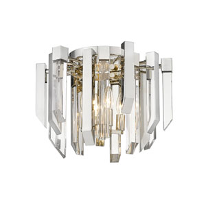 Bova Polished Nickel Four-Light Flush Mount
