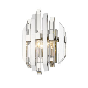 Bova Polished Nickel Two-Light Wall Sconce