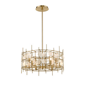 Garroway Aged Brass Six-Light Chandelier