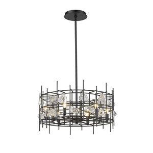 Garroway Matte Black Six-Light Chandelier