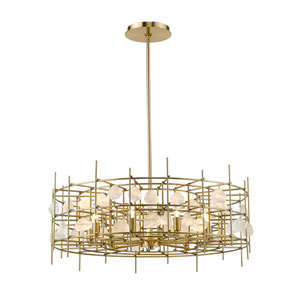 Garroway Aged Brass Nine-Light Chandelier