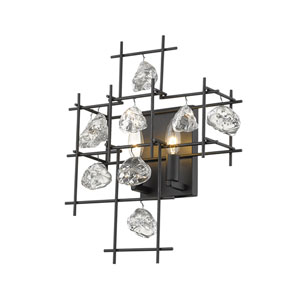 Garroway Matte Black Two-Light Wall Sconce