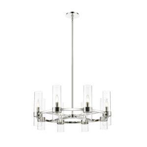 Datus Polished Nickel Eight-Light Chandelier
