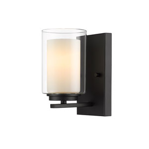 Willow Matte Black One-Light Wall Sconce