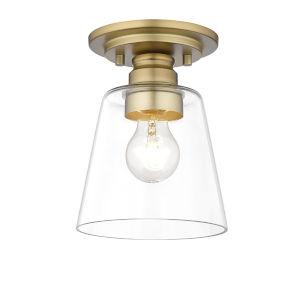 Annora Olde Brass One-Light Semi-Flush Mount