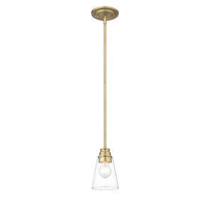 Annora Olde Brass One-Light Mini Pendant